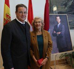 Encuentro entre la alcaldesa y el presidente del Consejo de los Estados de Suiza